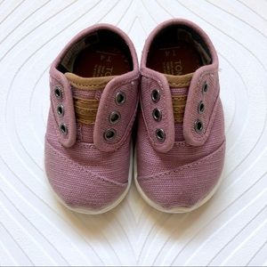Toms Toddler Cordones Rose Heritage Canvas Shoes